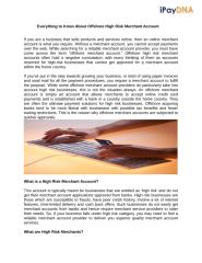 Everything to Know About Offshore High Risk Merchant Account.docx