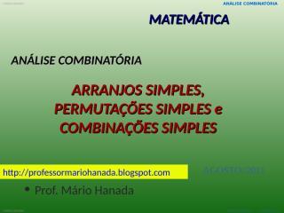 arranjos-permutações e combinações simples.pps