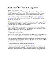 Cách chuyển đổi file PDF sang Word.doc