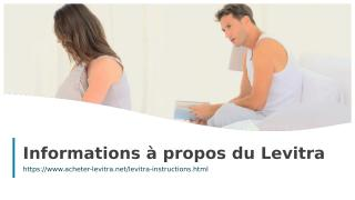 Informations a propos du Levitra.ppt