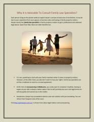 Family Law Specialists - Why It Is Advisable To Consult.pdf