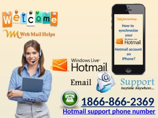 How to synchronize your Hotmail account on iPhone.pptx