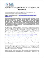 Global Tomato Ketchup Sales Market 2018 Industry Trend and Forecast 2025.pdf