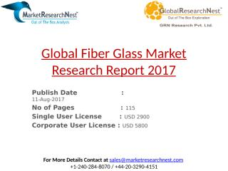 Global Fiber Glass Market Research Report 2017.pptx