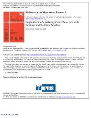 25 - Single-machine scheduling of unit-time jobs with earliness and tardiness penalties.pdf