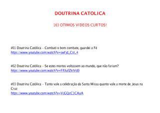 Doutrina Católica - Série - Atualização 11.pdf