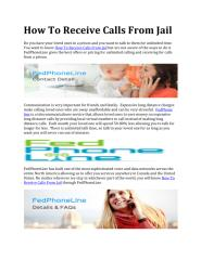 How To Receive Calls From Jail.pdf
