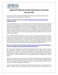 Global UHT Milk Sales Market 2018 Industry Trend and Forecast 2025.pdf