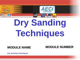 Dry SandingTechniques.ppt