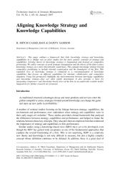 Aligning Knowledge Strategy and Knowledge Capabilities.pdf