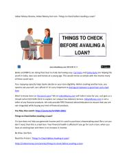Indian Money Review, Indian Money Dot com -Things to Check before Availing a Loan.pdf