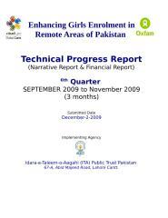 6th_Quarter report chiniot.doc