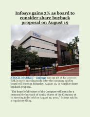 Infosys gains 3% as board to consider share buyback proposal on August 19.pdf